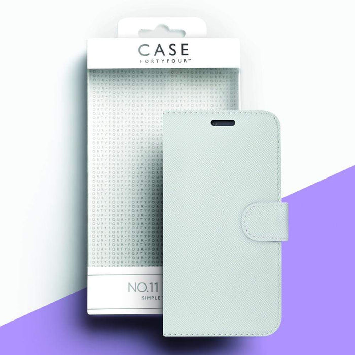 Case FortyFour Cases Case FortyFour No.11 iPhone XS/X Cross Grain White