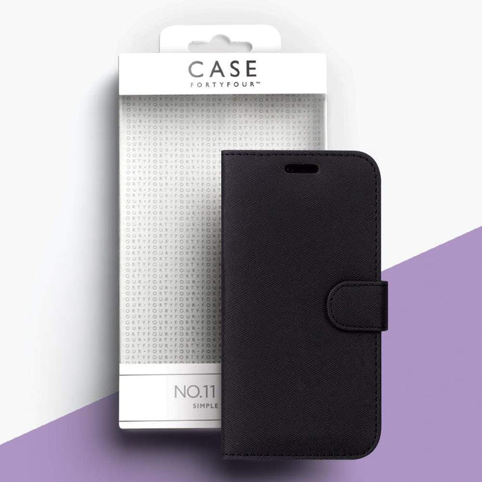 Case FortyFour Cases Case FortyFour No.11 Samsung A9 (2018) Cross Grain Black