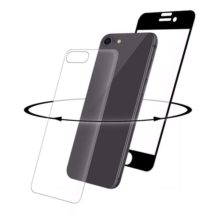 Eiger Screen Protection Eiger 3D 360 GLASS Tempered Glass Screen Protector for Apple iPhone 8 in Clear/Black