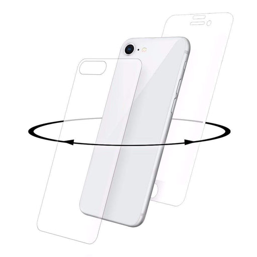 Eiger Screen Protection Eiger 3D 360 GLASS Tempered Glass Screen Protector for Apple iPhone 8 in Clear/White