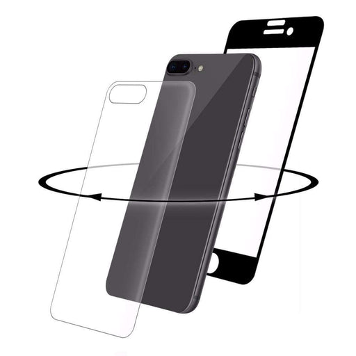 Eiger Screen Protection Eiger 3D 360 GLASS Tempered Glass Screen Protector for Apple iPhone 8 Plus in Clear/Black