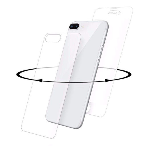 Eiger Screen Protection Eiger 3D 360 GLASS Tempered Glass Screen Protector for Apple iPhone 8 Plus in Clear/White