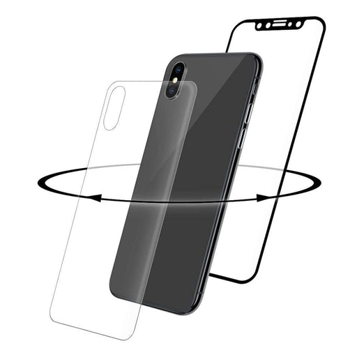 Eiger Screen Protection Eiger 3D 360 GLASS Tempered Glass Screen Protector for Apple iPhone X/XS in Clear/Black