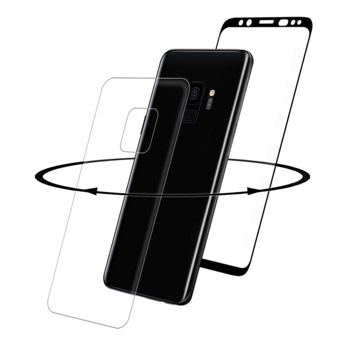Eiger Screen Protection Eiger 3D 360 GLASS Tempered Glass Screen Protector for Samsung Galaxy S9 in Clear/Black