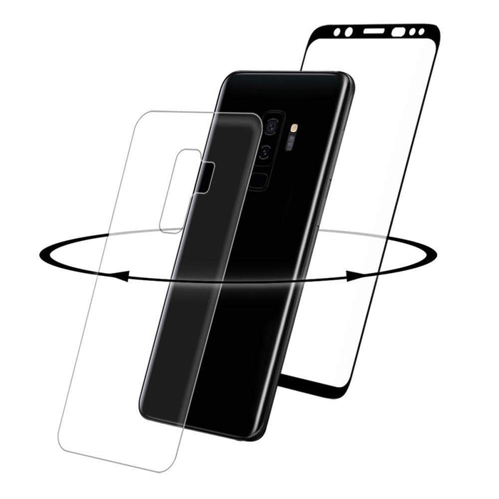 Eiger Screen Protection Eiger 3D 360 GLASS Tempered Glass Screen Protector for Samsung Galaxy S9+ in Clear/Black