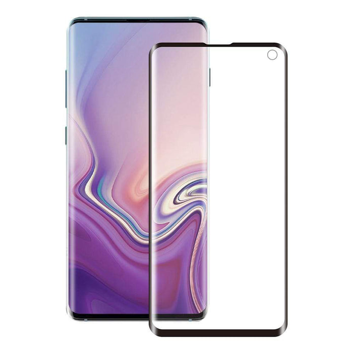Eiger Screen Protection Eiger 3D GLASS Case Friendly Full Screen Glass Screen Protector for Samsung Galaxy S10 E in Clear/Black