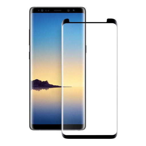 Eiger Screen Protection Eiger 3D GLASS Case Friendly Glass Screen Protector for Samsung Galaxy Note 9 in Clear/Black