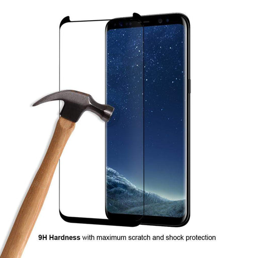 Eiger Screen Protection Eiger 3D GLASS Case Friendly Tempered Glass Screen Protector for Samsung Galaxy S8 in Clear/Black