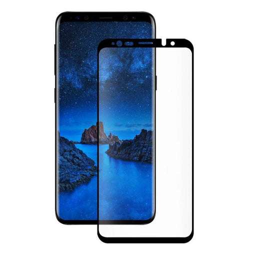 Eiger Screen Protection Eiger 3D GLASS Case Friendly Tempered Glass Screen Protector for Samsung Galaxy S9+ in Clear/Black