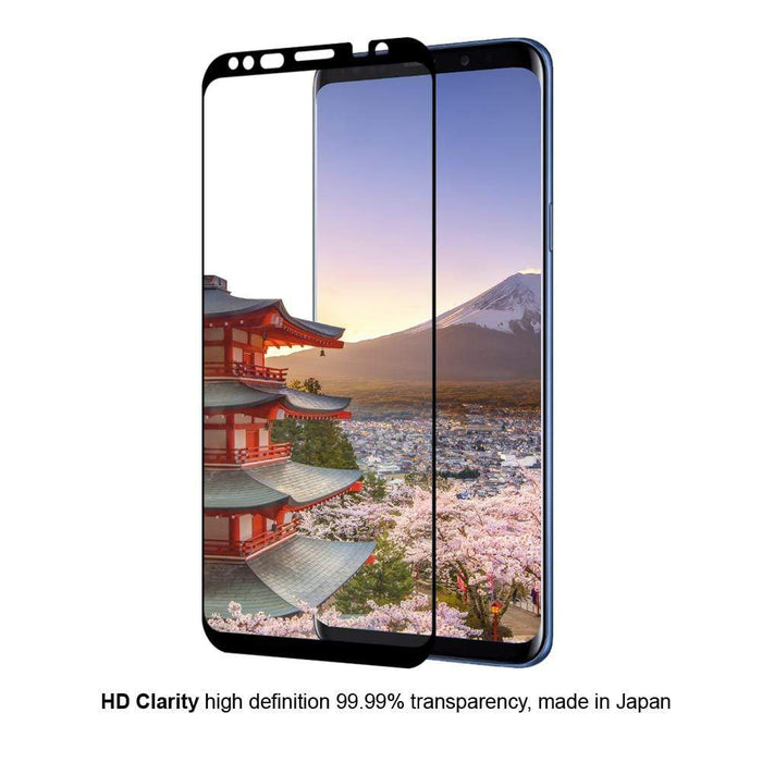 Eiger Screen Protection Eiger 3D GLASS Case Friendly Tempered Glass Screen Protector - Samsung Galaxy S9