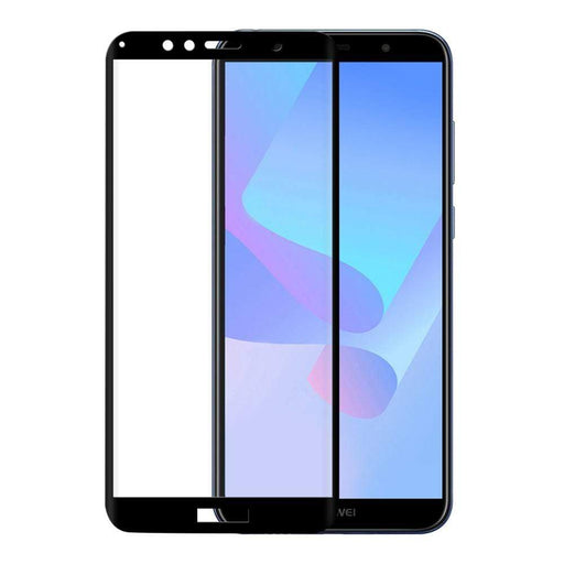Eiger Screen Protection Eiger 3D GLASS Full Screen Glass Screen Protector for Huawei Y6/Y6 Prime (2018) in Clear/Black