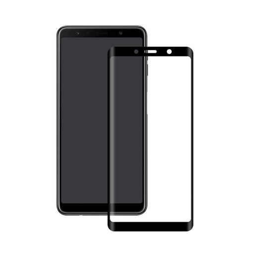 Eiger Screen Protection Eiger 3D GLASS Full Screen Glass Screen Protector for Samsung Galaxy A9 (2018) in Clear/Black