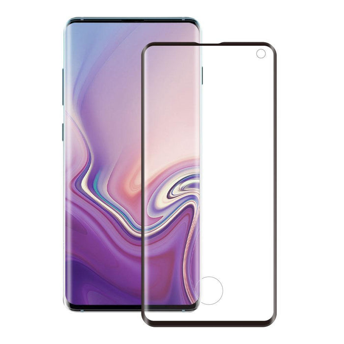 Eiger Screen Protection Eiger 3D GLASS Full Screen Glass Screen Protector for Samsung Galaxy S10 in Clear/Black