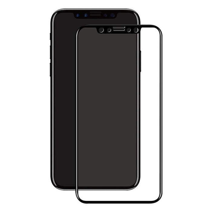 Eiger Screen Protection Eiger 3D GLASS Full Screen Tempered Glass Screen Protector for Apple iPhone X/XS in Clear/Black