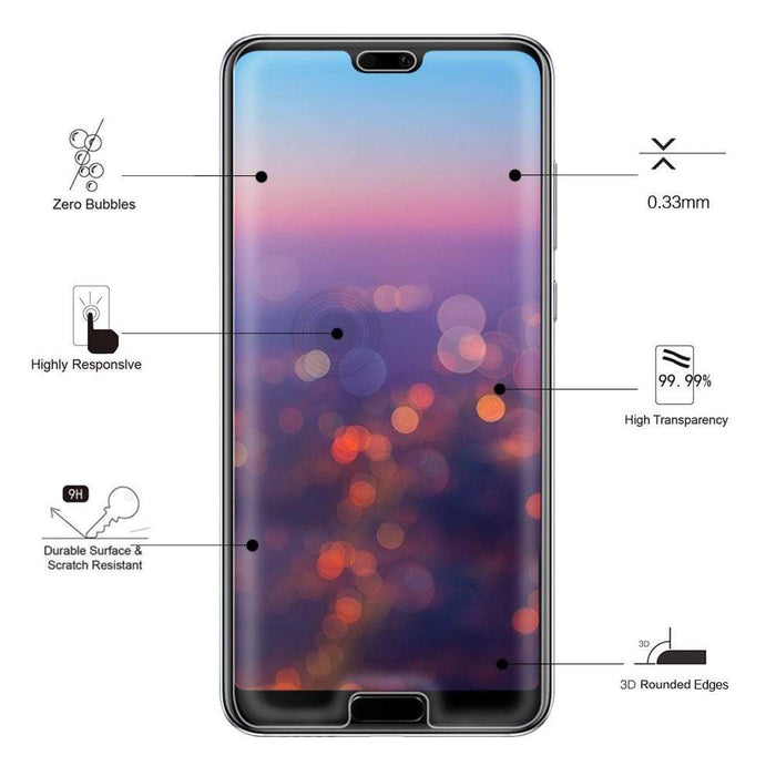 Eiger Screen Protection Eiger 3D GLASS Full Screen Tempered Glass Screen Protector for Huawei P20 Pro in Clear