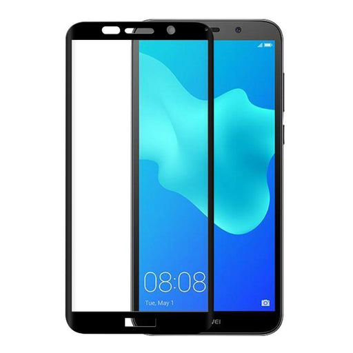 Eiger Screen Protection Eiger 3D GLASS Full Screen Tempered Glass Screen Protector for Huawei Y5 (2018) in Clear/Black