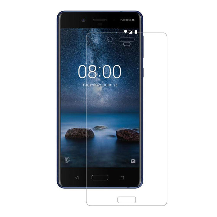 Eiger Screen Protection Eiger 3D GLASS Full Screen Tempered Glass Screen Protector for Nokia 8 in Clear