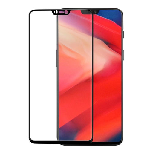 Eiger Screen Protection Eiger 3D GLASS Full Screen Tempered Glass Screen Protector for OnePlus 6 in Clear/Black