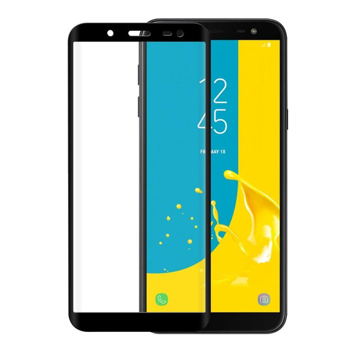 Eiger Screen Protection Eiger 3D GLASS Full Screen Tempered Glass Screen Protector for Samsung Galaxy J6 (2018) in Clear