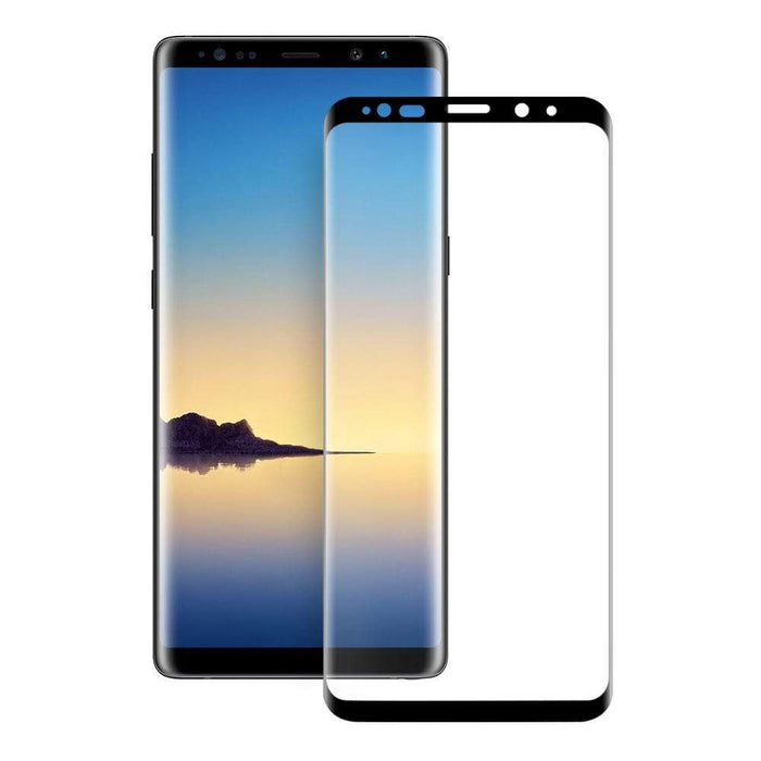 Eiger Screen Protection Eiger 3D GLASS Full Screen Tempered Glass Screen Protector for Samsung Galaxy Note 9 in Clear/Black