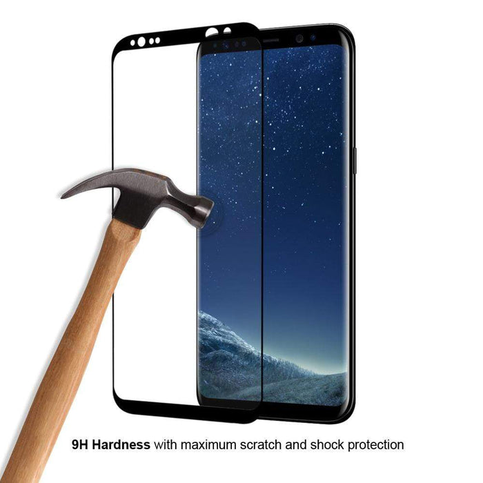 Eiger Screen Protection Eiger 3D GLASS Full Screen Tempered Glass Screen Protector for Samsung Galaxy S8 in Clear/Black