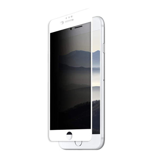 Eiger Screen Protection Eiger 3D Privacy GLASS Tempered Glass Screen Protector for Apple iPhone 8 Plus/7 Plus/6s Plus/6 Plus in White