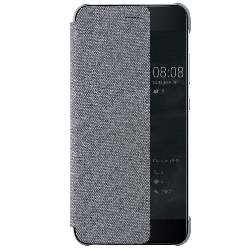 Huawei Cases Huawei Flip View Cover Case for Huawei P10 Plus in Light Grey