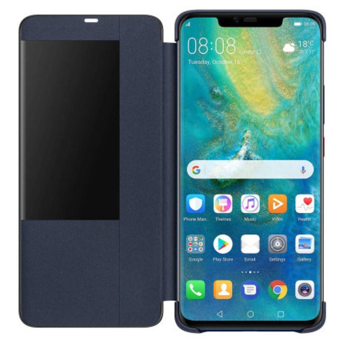 Huawei Cases Huawei Smart View Flip Case for the Huawei Mate 20 Pro in Deep Blue