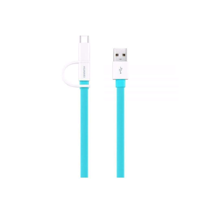 Huawei Chargers & Cables Huawei AP55S 1.5m Data Cable + USB-C Adaptor in Blue