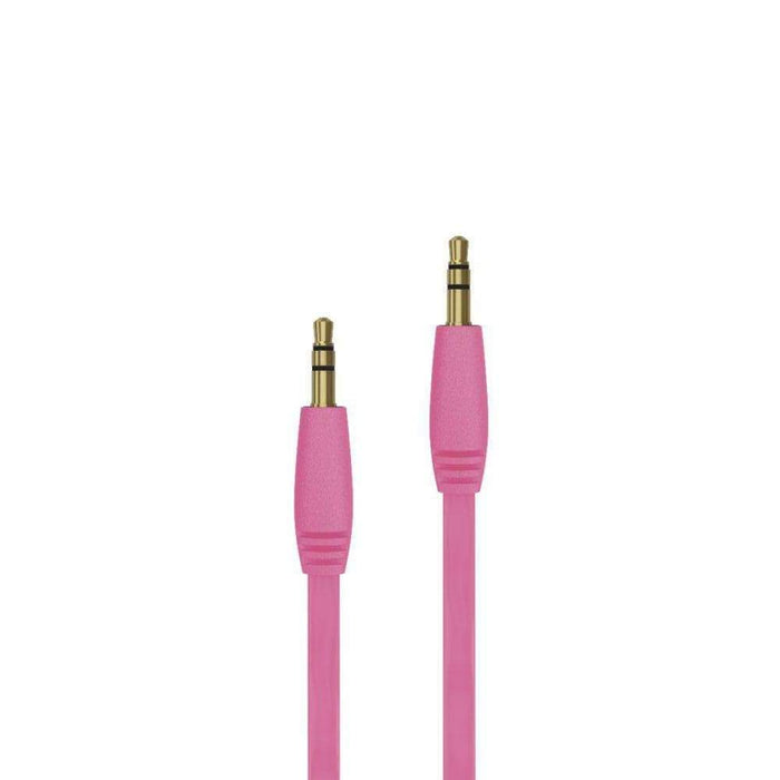 Just Wireless Chargers & Cables Just Wireless 1.8m Audio Cable in Pink