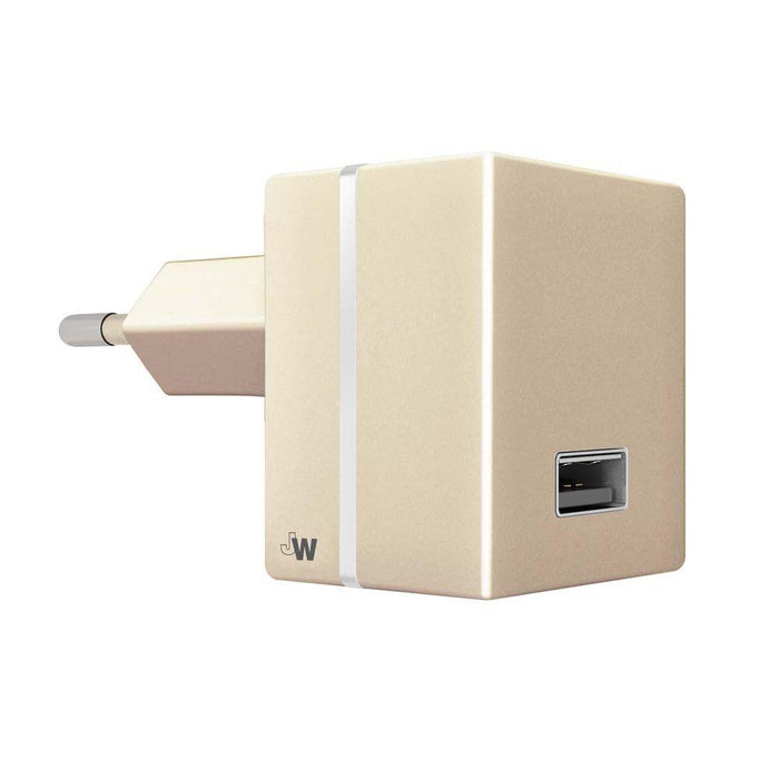 Just Wireless Chargers & Cables Just Wireless 2.4A EU Mains Charger (No Cable) in Gold