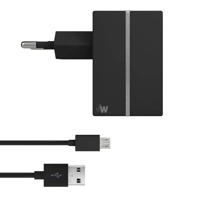 Just Wireless Chargers & Cables Just Wireless 2.4A EU Mains Charger with Micro USB Connector in Black