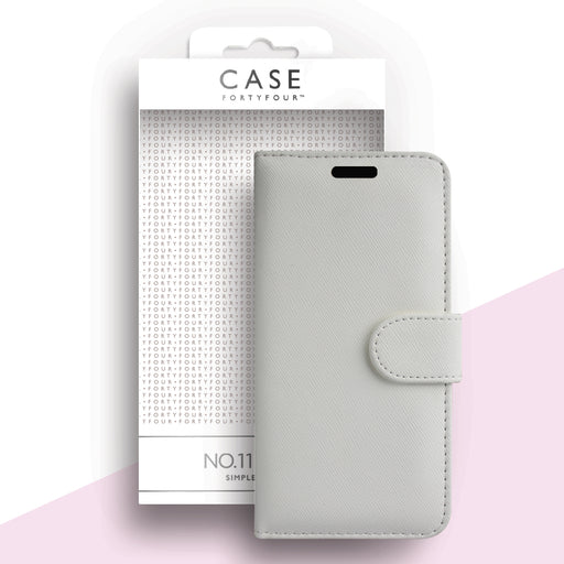 Case FortyFour No.11 for Samsung Galaxy A51 in Cross Grain White