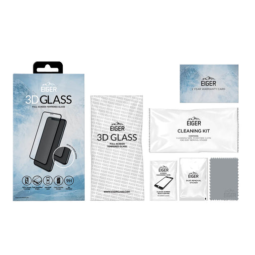 Eiger 3D GLASS Full Screen Glass Screen Protector for Apple iPhone 11 Pro Max/XS Max in Clear/Black