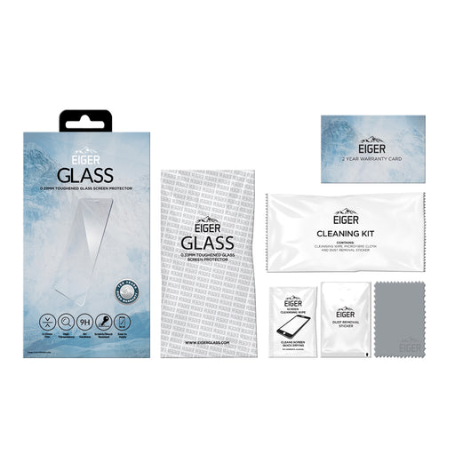 Eiger GLASS Tempered Glass Screen Protector for Samsung Galaxy A51 in Clear