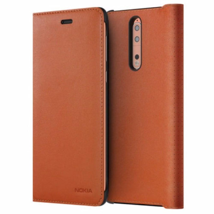 check out 84d14 1ea66 Nokia CP-801 Leather Flip Wallet Case for Nokia 8 in Copper