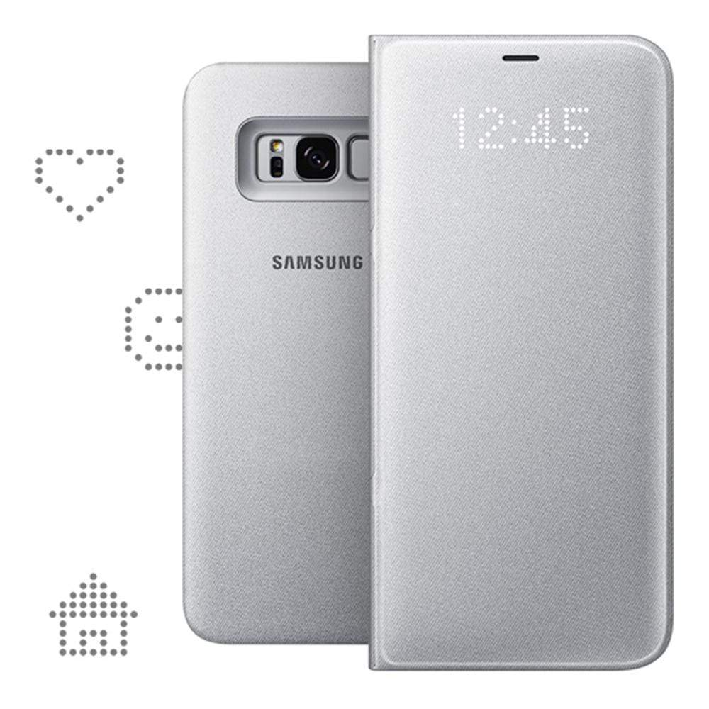 Samsung LED View Case for Samsung Galaxy S8+ in Silver
