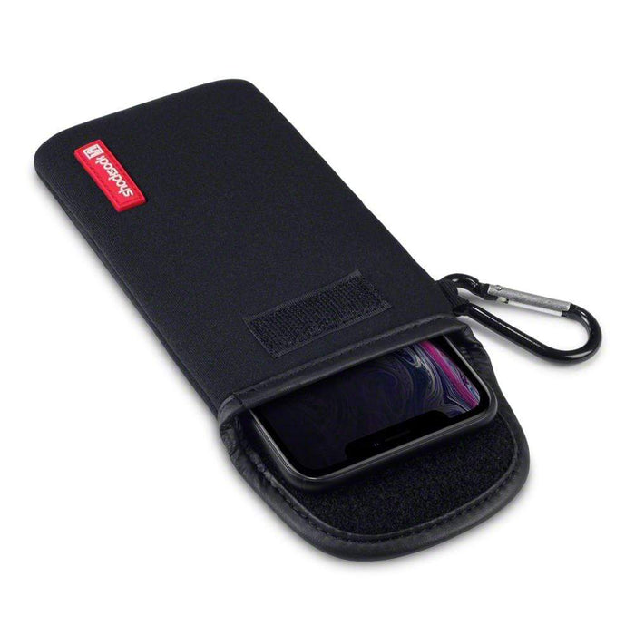 Shocksock Cases Shocksock Apple iPhone XR Neoprene Pouch Case with Carabiner - Black