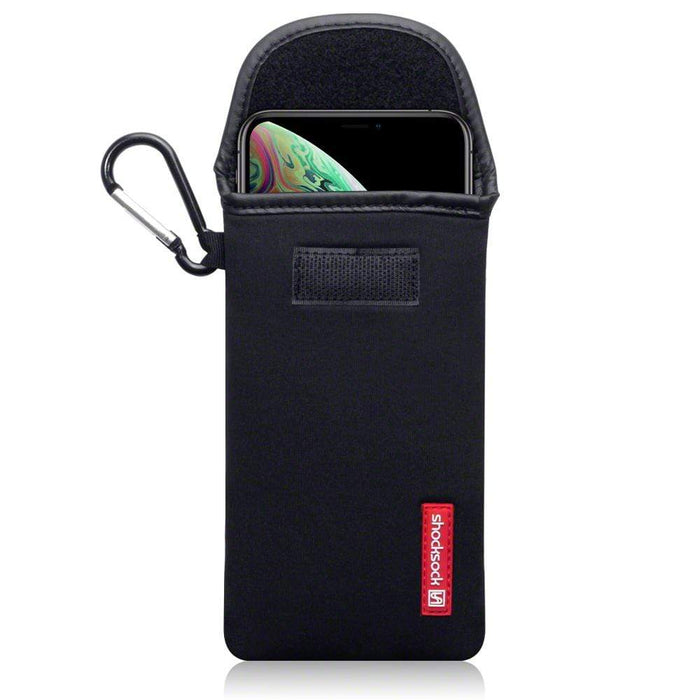 Shocksock Cases Shocksock Apple iPhone XS Max Plus Neoprene Pouch Case with Carabiner - Black