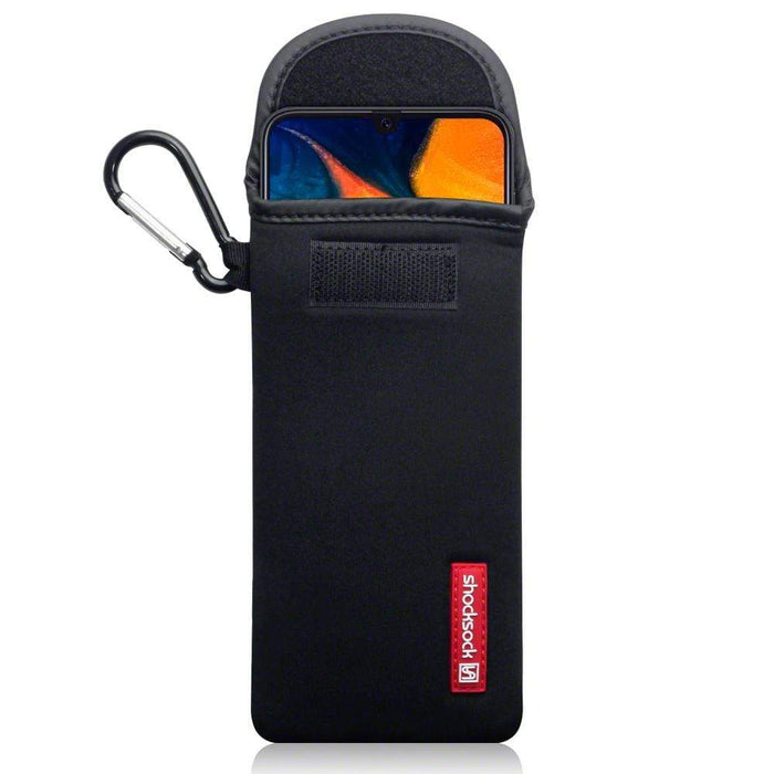 Shocksock Cases Shocksock Samsung Galaxy A30 Neoprene Pouch Case with Carabiner - Black