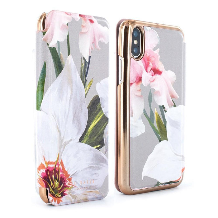 Ted Baker Cases Ted Baker DILLIS Mirror Folio Case for Apple iPhone X/XS in Chatsworth Bloom
