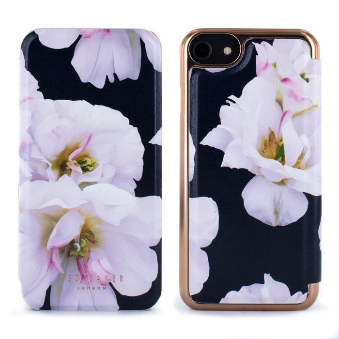 Ted Baker Cases Ted Baker FABIAN Mirror Folio Case for Apple iPhone 8/7 in Dark Navy