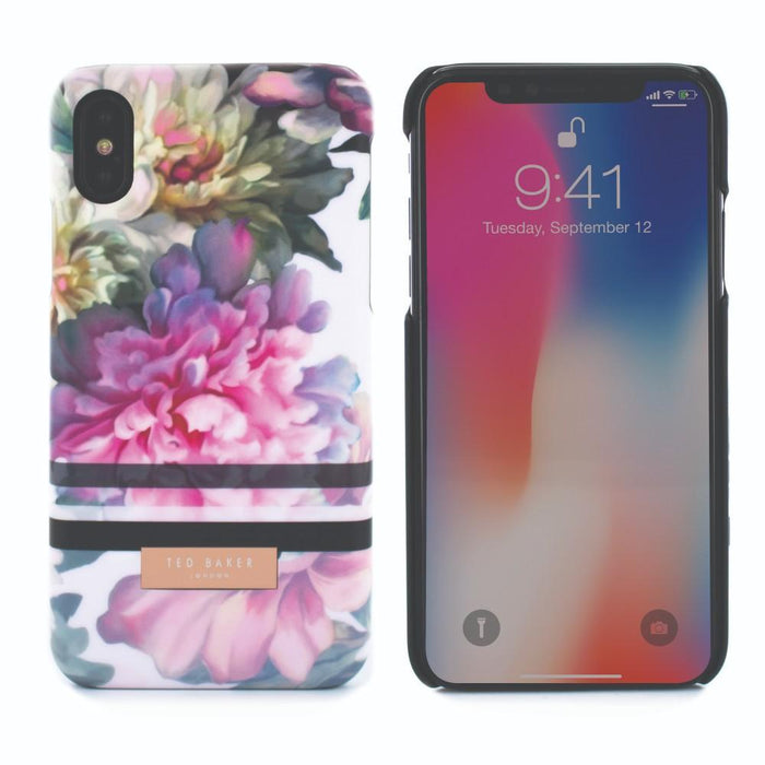 Ted Baker Cases Ted Baker LINORA Hard Shell Case for Apple iPhone X/XS in Painted Posie