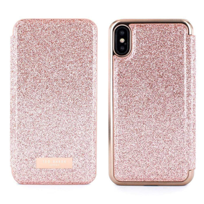 more photos 6d74b 6bb29 Ted Baker PERI Mirror Folio Case for Apple iPhone X/XS in Rose Gold