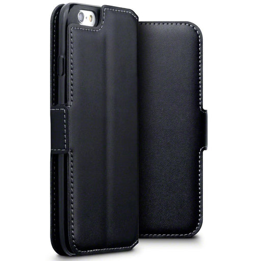 Terrapin Cases Terrapin Apple iPhone 6/6S Low Profile Genuine Leather Wallet Case - Black