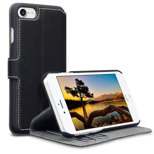 Terrapin Cases Terrapin Apple iPhone 8/7 Low Profile Faux Leather Wallet Case - Black