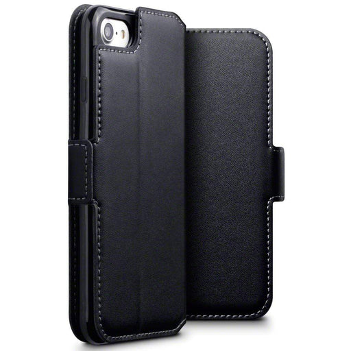 Terrapin Cases Terrapin Apple iPhone 8/7 Low Profile Genuine Leather Wallet Case - Black