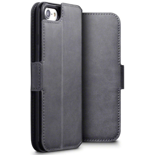 Terrapin Cases Terrapin Apple iPhone 8/7 Low Profile Genuine Leather Wallet Case - Grey