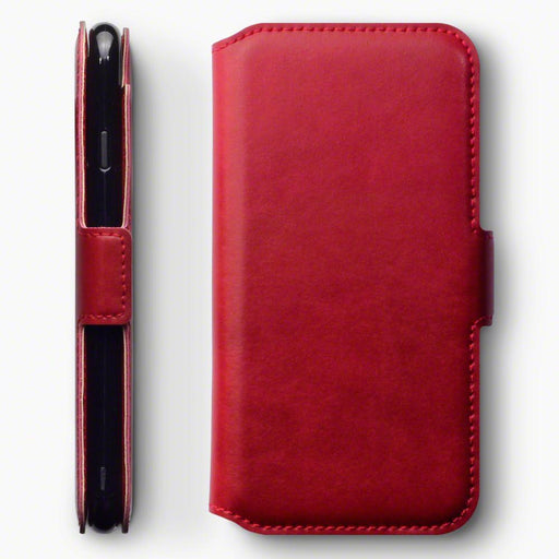 Terrapin Cases Terrapin Apple iPhone 8/7 Low Profile Genuine Leather Wallet Case - Red