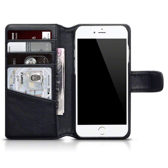 Terrapin Cases Terrapin Apple iPhone 8/7 Real Leather Business Wallet Case - Black